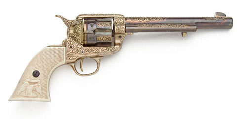 Western Pistols Drawing Western Cavalry Pistol With