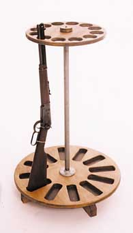 Rotating Gun Rack Plans http://www.gunstands.com/rifle.htm